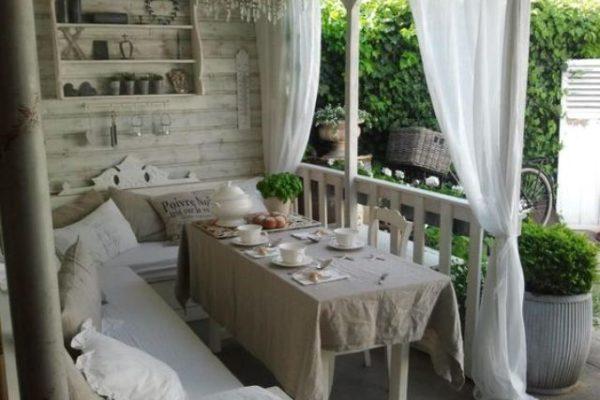 arredo giardino shabby chic veranda