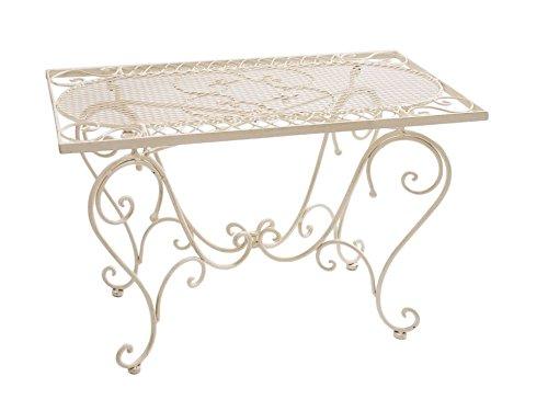 tavolo bianco in ferro battuto