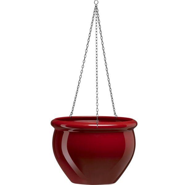vaso sospeso rosso