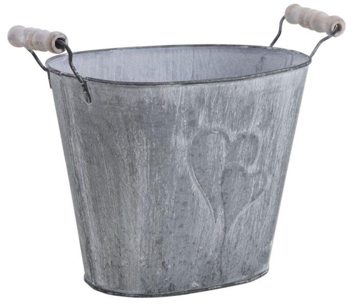 vaso in metallo con manici