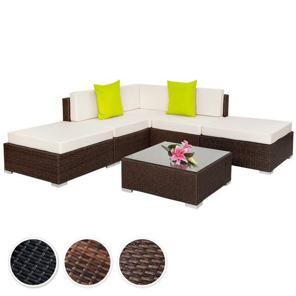 divano angolare in rattan