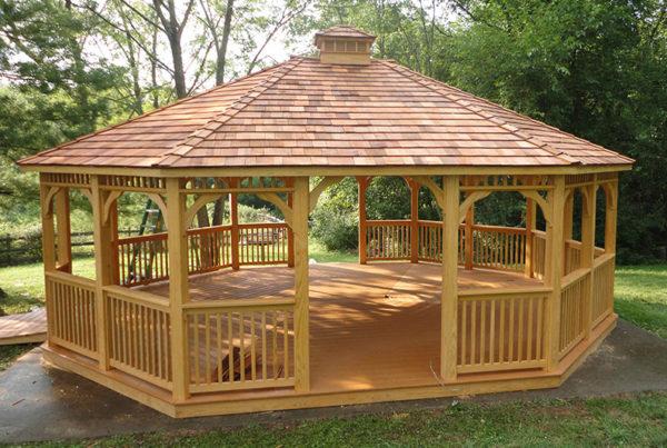 Gazebi accessori per esterno for Gazebi usati in legno