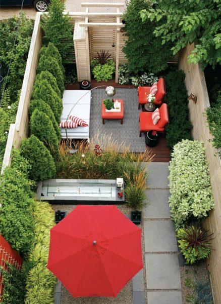piccolo giardino rosso