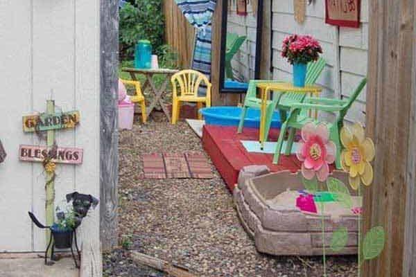 Spazio in giardino per i bambini