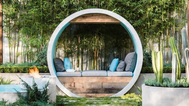 giardino design turchese