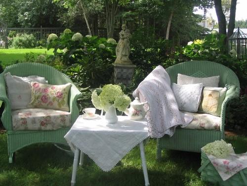 poltrone verdi da giardino
