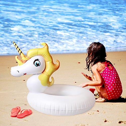 Gonfiabile unicorno salvagente galleggiante anello nuoto per bambini adulti mare e piscina - Unicorno gonfiabile piscina ...