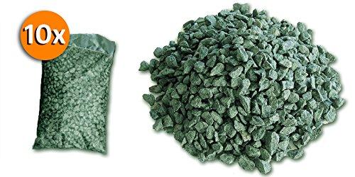 10 sacchi da 25kg graniglia di marmo verde alpi 8 12mm - Sacchi di terra per giardino ...