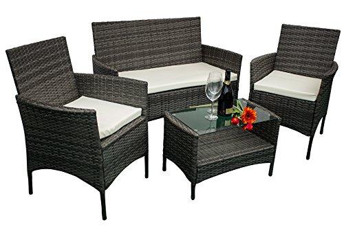 Avanti trendstore andria set di mobili per giardino in rattan sintetico tortora accessori - Mobili rattan sintetico ...