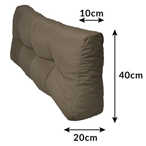Cuscino per schienale divano pallet di legno antracite accessori per esterno - Cuscini schienale divano ...