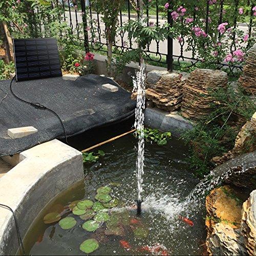 Pannello Solare Per Fontana : Birdbath w fontana maxin alimentazione acqua pompa