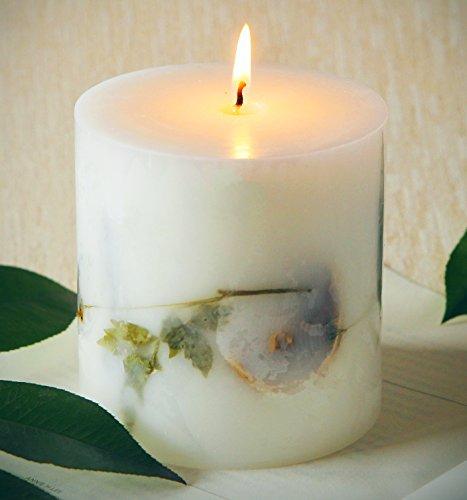 Candele citronella cera naturale anti zanzare per giardino esterni 90 ore campeggio candela - Candele per esterno ...