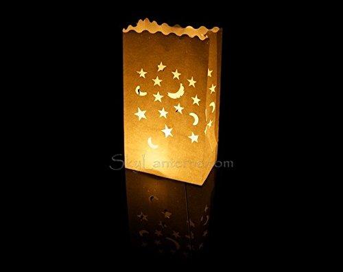 Candle bags sacchetti per candele confezione da 30 luna e stelle design accessori per - Candele per esterno ...