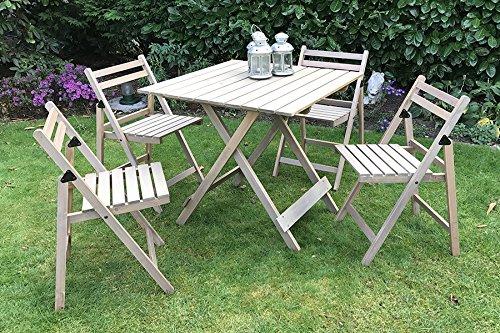 Dami ware bistro 5 pezzi libro mobili da giardino in legno 4 sedie 1 x immediato di tavolo - Mobili per giardino in legno ...