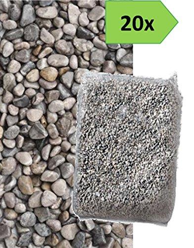 Ghiaino tondo di fiume 4 16mm 20 sacchi da 25 kg sassi - Sacchi di terra per giardino ...