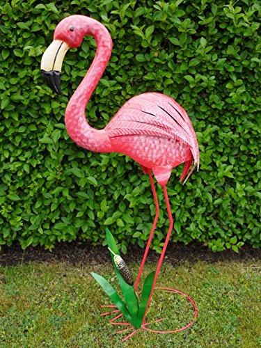 Grande in metallo rosa fenicottero laghetto da giardino for Fenicottero decorativo giardino