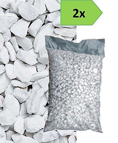 Graniglia di marmo bianco carrara 8 12mm 2 sacchi da 25 - Sacchi di terra per giardino ...