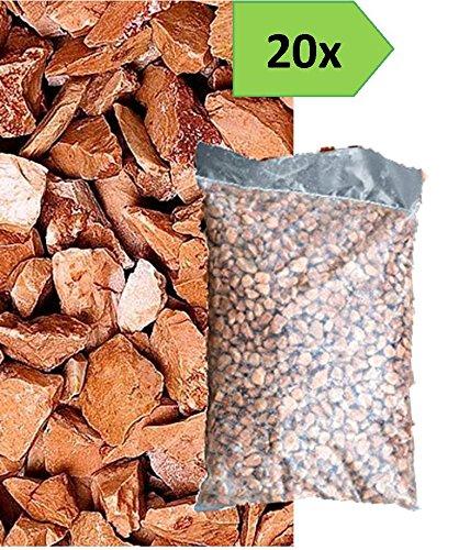 Graniglia di marmo rosso verona 8 12mm 20 sacchi da 25 kg sassi pietre giardino accessori - Sacchi di terra per giardino ...