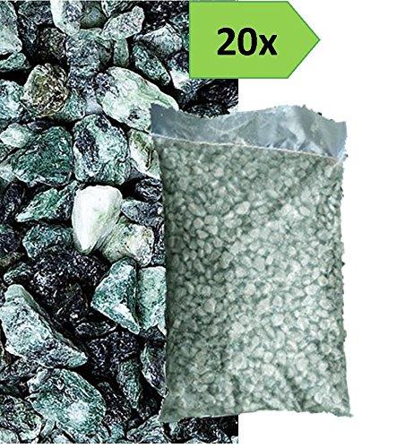 Graniglia di marmo verde alpi 8 12mm 20 sacchi da 25 kg - Sacchi di terra per giardino ...