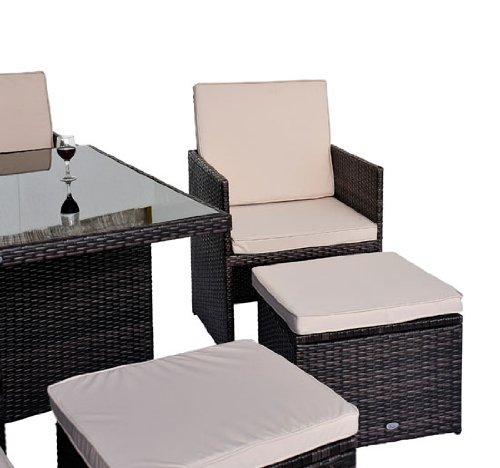 Outsunny - Set mobili da giardino in poly rattan 21pz set ...