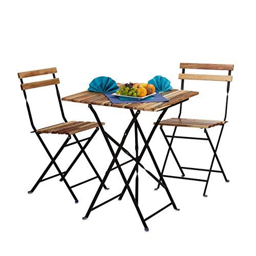 Relaxdays 10020682 set mobili da giardino per esterno da 3 - Mobili x esterno ...