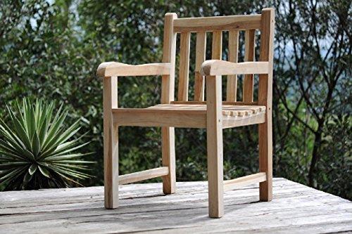 Poltrona da giardino in teak di legno massello sedia for Poltrone da balcone