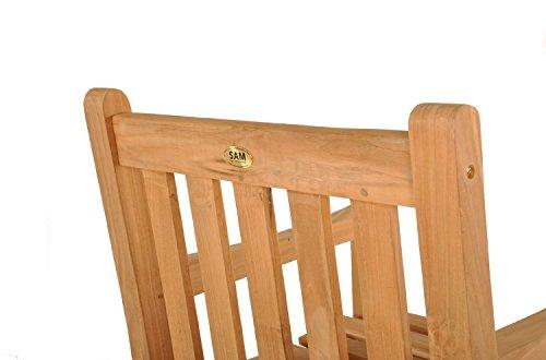 Poltrona da giardino in teak di legno massello sedia for Sedia design comoda