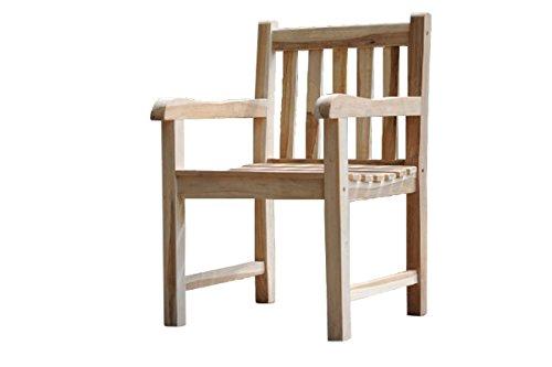 Poltrona da giardino in teak di legno massello sedia for Poltrona da terrazzo design