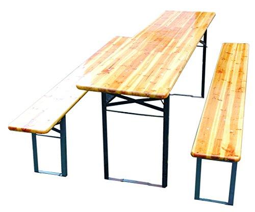 Set birreria tavolo e due panche accessori per esterno for Set birreria offerta