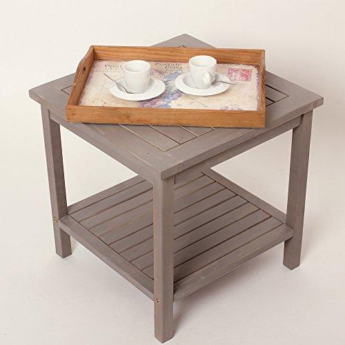 Tavolo tavolino in legno athene arredo esterno for Arredo giardino legno bianco