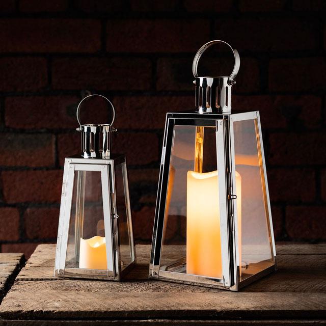 lanterne da esterno in acciaio trapezio
